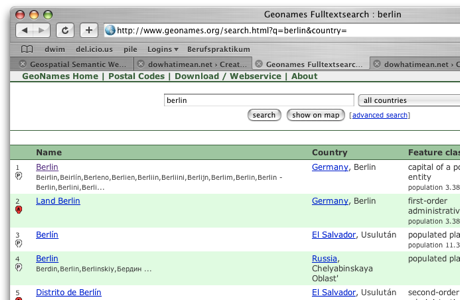 "geonames.org search result page for ""berlin"""