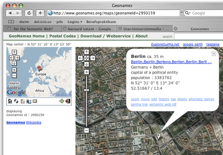 geonames.org map showing Berlin